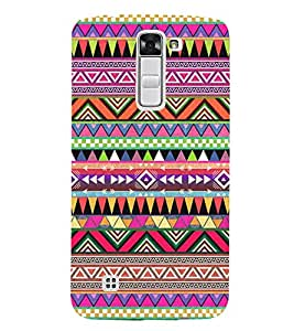 Abstract Color Pattern 3D Hard Polycarbonate Designer Back Case Cover for LG K7 4G Dual
