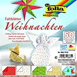 Folia Faltblätter / Origami Papier 80g/m², 50 Blatt, viele Motive