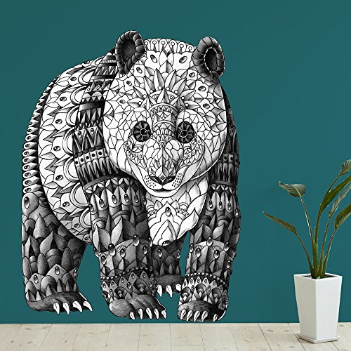 Panda Bear Wall Sticker Decal - Ornate Animal Art By Bioworkz (Xl) front-999873