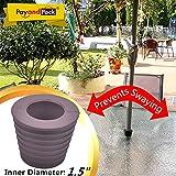 "MYARD Patio Umbrella Hole / Pole Cone Wedge (inner diameter 1 1/2"", Brown)"