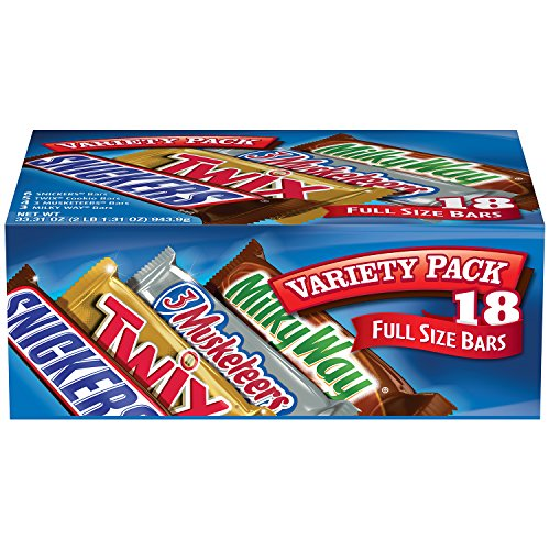 MARS Chocolate Singles Size Candy Bars Variety Pack 33.31-Ounce 18-Count Box (Variety Pack Candy compare prices)