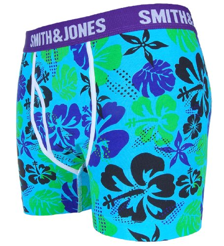 Smith & Jones Mens Frangipani Boxer Shorts