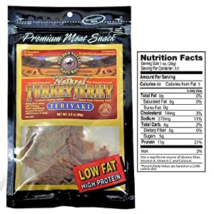 Golden Valley Natural - Natural Turkey Jerky with Naturally Smoked Flavoring Teriyaki - 3.25 oz. CLEARANCE PRICED
