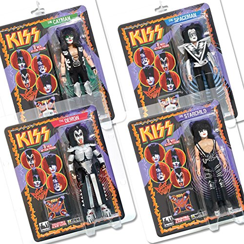 KISS 8 Inch Action Figures Series Three Sonic Boom: Set of all 4