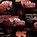 Disney Fleece Fabric 59-Inch Wide 1.5 Yard Cut Fabric, Disney Cars Mcqueen Is Lightning, Red