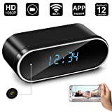Hidden Camera Clock,Digihero Spy Camera in Clock WiFi alarm Cameras ,1080P Video Loop Recorder Clock Spy Wifi Camera for Home And Office Security Monitoring Nanny Cam 150 Angle Motion Detection (Color: clock camera B)