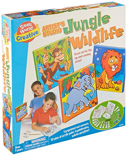 Small World Toys Artist's Studio Jungle Wild Life Building Kit