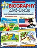 img - for By Susan Washburn Buckley 15 Easy Biography Mini-Books: Reproducible Mini-Books About Famous Americans That Build Content Know [Paperback] book / textbook / text book