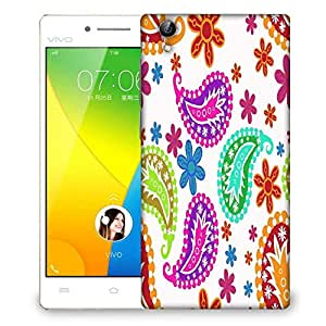 Snoogg Colorful White Pattern Designer Protective Phone Back Case Cover For VIVO Y51 L