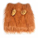GABOSS Lion Mane Costume for Dog, Wig for Large Pet Festival Party Fancy Hair Clothes with ear, Brown