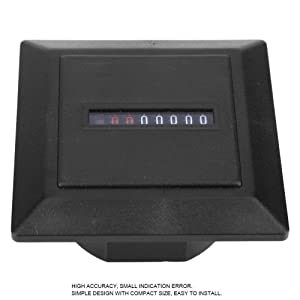 Zerone HM-1 AC220-240V Non-Resettable Hour Timer Accumulating Time Meter Gauge Counter