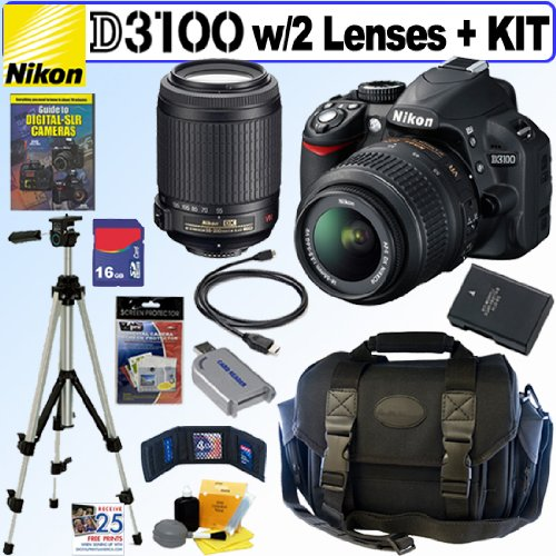 Nikon D3100 14.2MP Digital SLR Camera with 18-55mm f 3.5-5 ...
