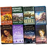 Bernard Cornwell Bernard Cornwell Collection 8 Books Set (Copperhead, Battle Flag, Rebel, The Bloody Ground, The Pale Horseman, A Crowning Mercy, Gallows Thief, Sword Song)