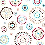 Caden Lane Classic Collection Changing Pad Cover, Red Circle Dot