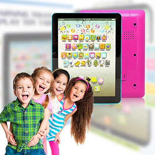 Wireless Pro® Children's Multimedia Learning Toy Tablet Styled Device with Music Sounds Numbers Letters Words and Phrases 6 Play Modes and 49 Push Buttons Perfect for Babies and Toddlers (Pink) (Tablet For A One Year Old compare prices)
