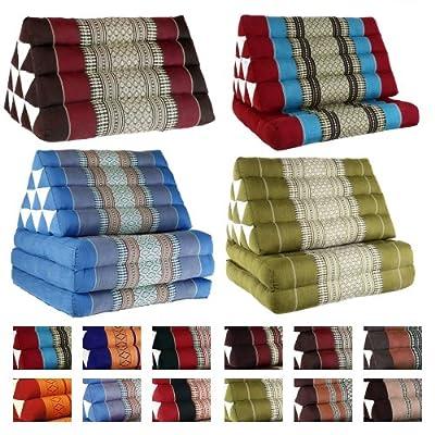 Kapok Thaikissen Dreieckskissen - verschiedene Größen und Farben
