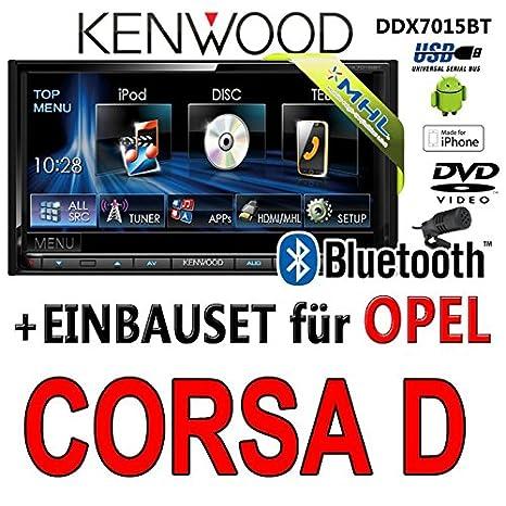 Opel corsa d, kenwood-noir-dDX7015BT 2DIN multimédia hDMI/mHL autoradio dVD, bluetooth kit, uSB
