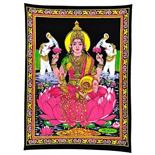 maa-lakshmi-goddess-of-wealth-prosperity-cotton-tapestry