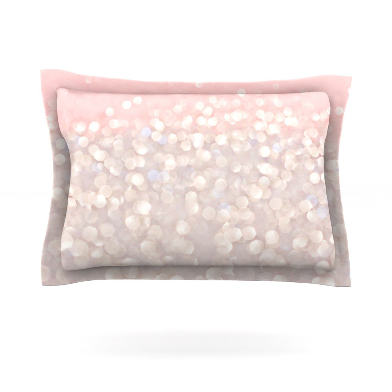 Kess InHouse Debbra Obertanec Magical Pink Glitter Cotton Pillow Sham, 40 by 20-Inch kess inhouse julie hamilton snowflake sky blue woven sham 40 by 20 inch