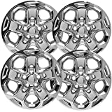 "OxGord Hubcaps for Ford Fusion 2010-2012 Set of 4 Pack 17"" Inch Chrome Auto Wheel Covers, OEM Genuine Factory Aftermarket Replacement, High Quality ABS Plastic - Easy Snap On"