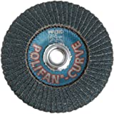 "PFERD Polifan PSF Abrasive Flap Disc, Radial Shape, Threaded Hole, Phenolic Resin Backing, Zirconia Alumina, 5"" Dia., 40 Grit (Pack of 1)"