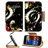 Astronira fractal Universe digital graphic art 3DMall Motorola Moto X Flip Case Stand Magnetic Cover Made to Order Pu Leather