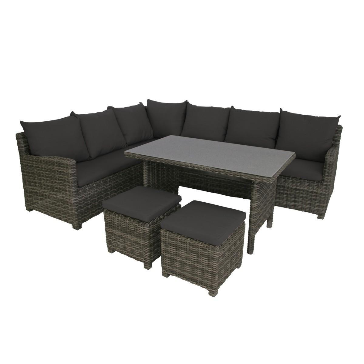 Greemotion Lounge Set Miami, Mehrfarbig, 208x88x77cm