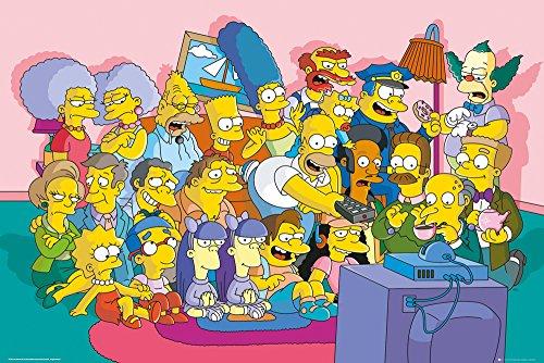GB eye, The Simpsons, Sofa Cast, Maxi Poster, 61x91.5cm