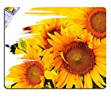 Mousepads hand paint picture with sunflowers IMAGE 27372920 by MSD Mat Customized Desktop Laptop Gaming Mouse Pad