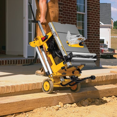 DEWALT DW744XRS 10-inch Job Site Table Saw with Rolling Stand