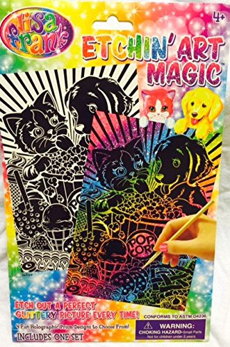 Lisa Frank Etchin' Art Magic - Puppy and Kitten Rainbow Matinee