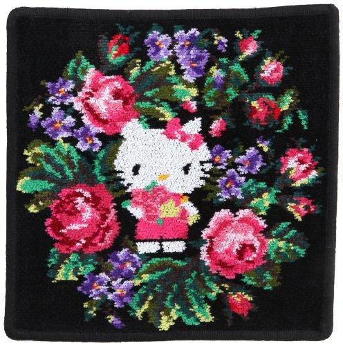 (Feiler) FEILER [Feiler /FEILER] collaboration with KITTY handkerchief (Hello Kitty bouquet) 01D9305C2525 black approximately 25 x 25 cm