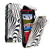 CONTINENTAL27 For Nokia Asha 300 New Stylish Zebra Face Printed Pouch PU Leather Magnetic Flip Closure Case Cover