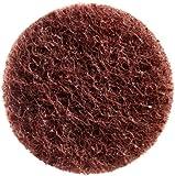 Merit Abrasotex Nonwoven Abrasive Buffing Disc, Nylon Backing, Power-Lock Type I Quick-Change, Aluminum Oxide, Waterproof