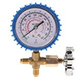 Fenteer Air Conditioning Refrigeration Recharge Pressure Gauge Manometer Blue Color Fit for R22/R12/RS02