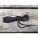 Mad Dog Laces Mad Dog Boot Laces *Guaranteed For Life* 550 Paracord Steel Tip Black 62 8 To 10 Eyelets