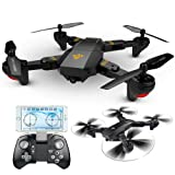 ElementDigital RC Quadcopter Wifi FPV Selfie Drone RTF VISUO XS809HW 2.4G 4CH 6-Axis WIFI Foldable 2.0MP HD 120°Wide Angle 720P Camera G-Sensor One Key Return Height Hold (Color: RC Quadcopter)