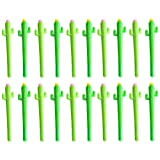 ACTLATI 20 Pack Creative Kawaii Cactus Rollerball Pens 0.5mm Black Ink School Office Gel Pen Random (Color: 20 Pack, Tamaño: One Size)