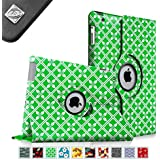 Fintie Apple iPad 2/3/4 Case - 360 Degree Rotating Stand Smart Case Cover for iPad with Retina Display (iPad 4th Generation), the new iPad 3 & iPad 2 (Automatic Wake/Sleep Feature), ZZ-Spring Textile Green