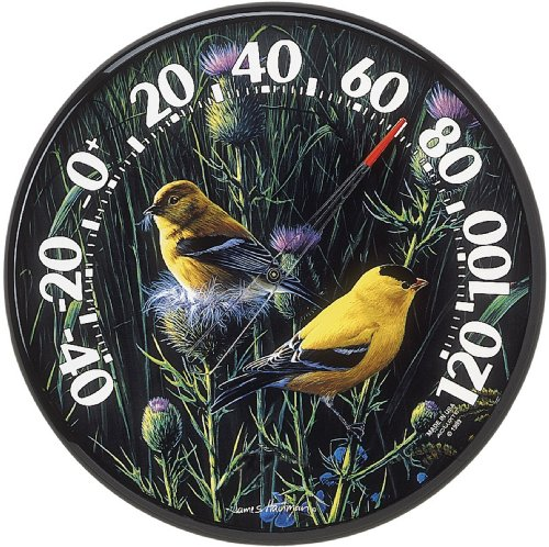 Chaney Instruments Acu-Rite 01711 12.5-inch Goldfinches Thermometer