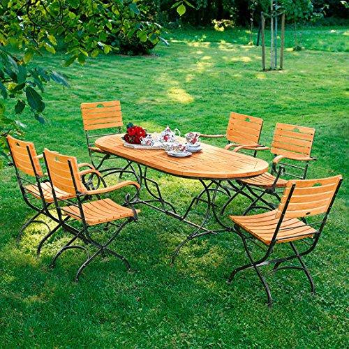 Gärtner Pötschke TEAK-Sitzgruppe Chelsea (1 Tisch, 6 Stühle)