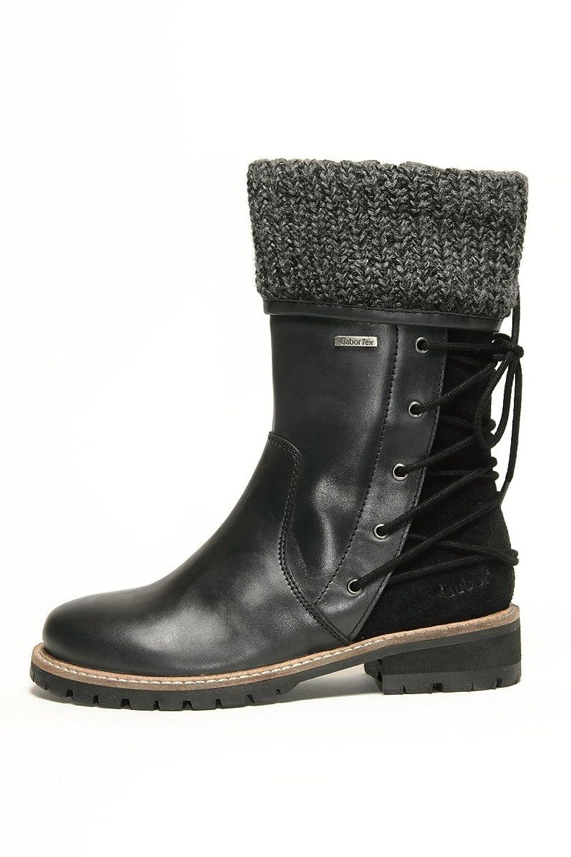 Gabor Mima Kids Boots Schuhe Stiefel Leder 372 71 wasserfest black, Schuhe Kinder:31 kaufen