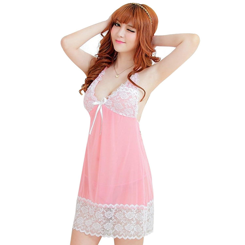 Deercon Frauen-reizvolle transparente W?sche-Kleid-Nachtw?sche Babydoll Sleepwear (Pink) jetzt bestellen