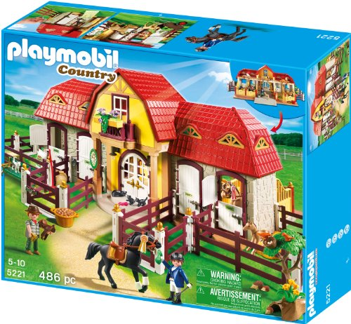 PLAYMOBIL 5221 - Gro&#223;er Reiterhof mit Paddocks