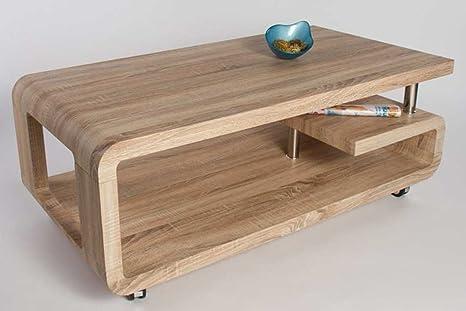Table basse LOLA Sonoma chêne clair, 1150 x 600 x 420 mm -PEGANE-