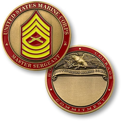 U.S. Marines Master Sergeant Engraveable Challenge Coin