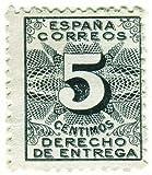 Historic 5 Cent Spanish Stamp