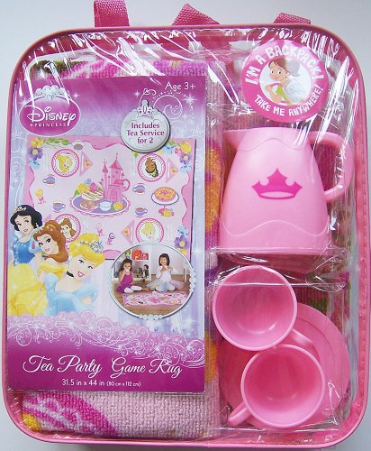 Disney Princess Tea Party Game Rug / Backpack & Tea Service for 2