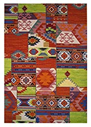 LA Rug Botticelli Abstract Geometric Area Rug (2 by 4 Foot) 518-01-0204