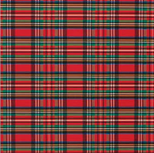 Tartan Plaid Christmas Red and Green Gift Wrap Roll 24